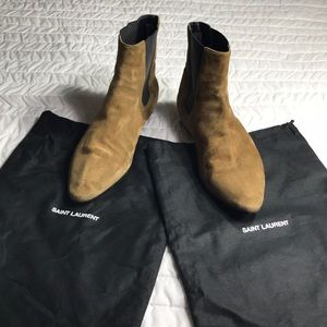 Saint Laurent tan suede booties sz 39 EU - US 9